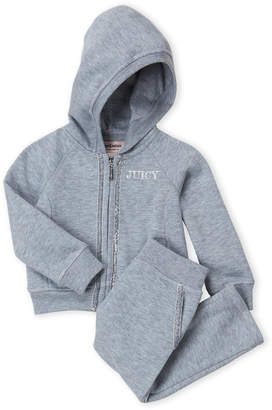 Juicy Couture Infant Girls) Two-Piece Glitter Trim Hoodie & Joggers Set