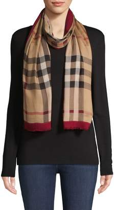 Burberry Plaid Fringe Scarf