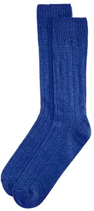 The Men's Store at Bloomingdale's Wide Rib Cashmere Blend Socks - 100% Exclusive $28 thestylecure.com