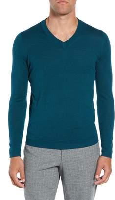 Ted Baker Noel Slim Fit V-Neck Wool Blend Sweater