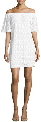 A.L.C. Ario Crocheted Off-the-Shoulder Dress, White