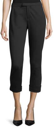 Joie Shawnta Slim Cropped Crepe Pants