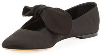 The Row Elodie Knotted Satin Slip-On Flat