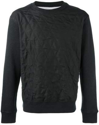 Maison Margiela silk quilted panel sweatshirt