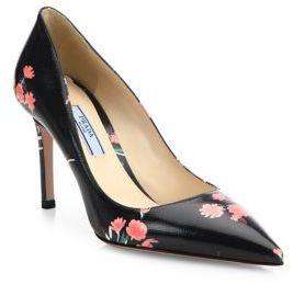 Prada Floral Print Pumps $875 thestylecure.com