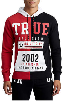 True Religion MENS SPLIT TR UNIVERSITY PULLOVER HOODIE