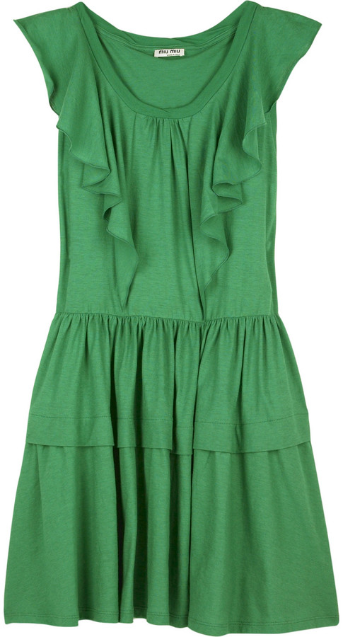 Miu Miu Jersey ruffle dress