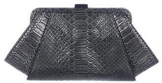Zac Posen Metallic Embossed Leather Clutch