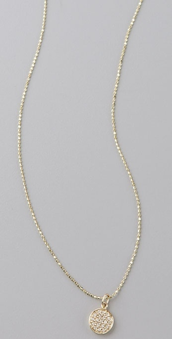 Sydney Evan Disc Diamond Necklace
