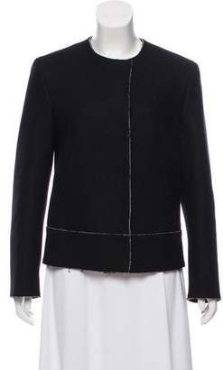 Calvin Klein Collection Collarless Wool Jacket