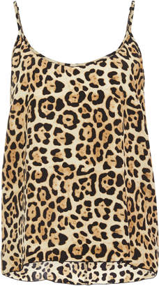 ATM Leopard-Print Silk-Charmeuse Camisole