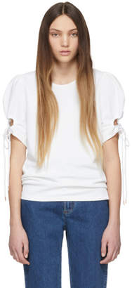 See by Chloe White Puff Sleeve Blouse