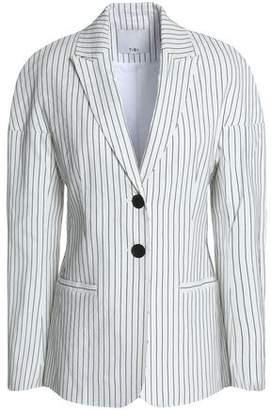 Tibi Cecil Pinstriped Linen-Blend Blazer