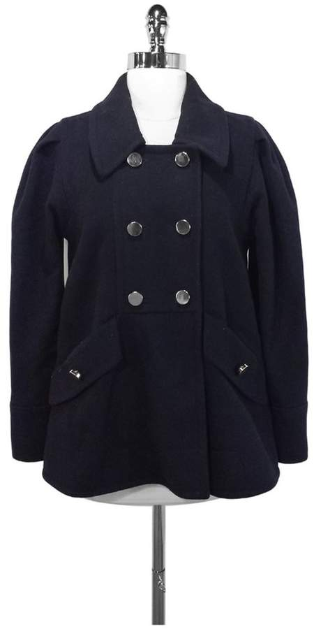Marc by Marc Jacobs Navy Wool Blend Coat