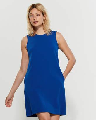 Sharagano Sleeveless Grommet Shoulder Shift Dress