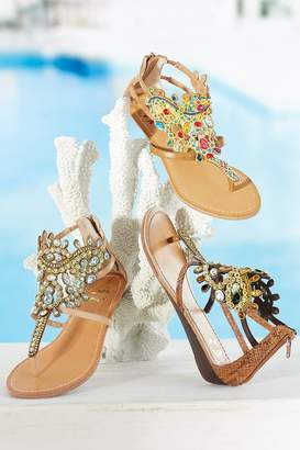 Soft Surroundings Crown Jewels Sandals