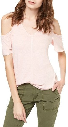 Women's Sanctuary Dahlia Cold Shoulder Tee $49 thestylecure.com