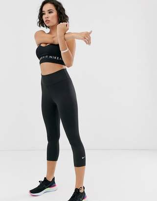 Nike Training one tight capri legging in black