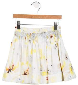 Christian Dior Girls' Embroidered Floral Skirt