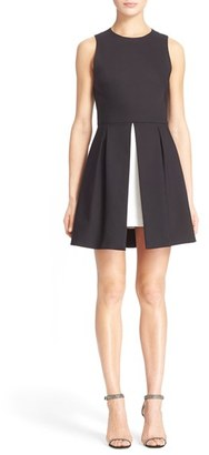Women's Alice + Olivia 'Bria' Peplum Fit & Flare Dress $330 thestylecure.com
