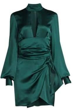 Caroline Constas Lana Stretch Silk Tie-Neck Dress