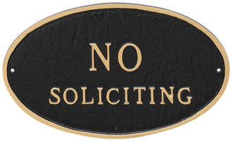 Montague Metal Products Oval No Soliciting Statement Garden Plaque
