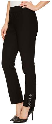 Tribal Stretch Bengaline 28 Pull-On Pants with Stud Detail Women's Casual Pants