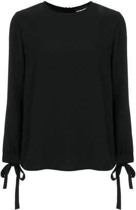 Emporio Armani bow-embellished blouse