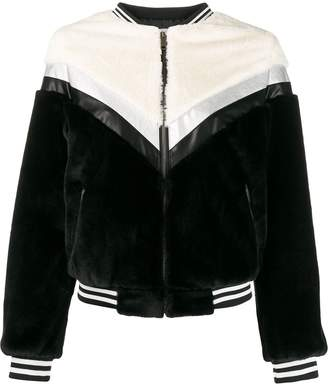 Apparis Florence panelled bomber jacket