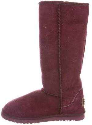 Australia Luxe Collective Shearling-Trimmed Knee Boots