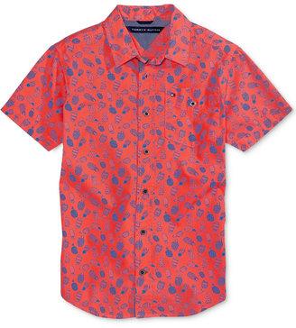 Tommy Hilfiger Crazy Pineapple-Print Cotton Shirt, Big Boys (8-20) $37.50 thestylecure.com