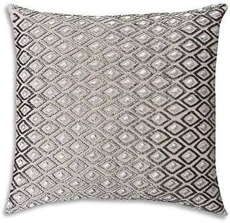 Callisto Home Handbeaded Crystal Linen Pillow