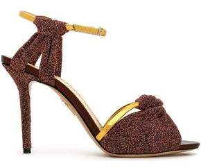 Charlotte Olympia Knotted Lurex And Metallic Leather Sandals