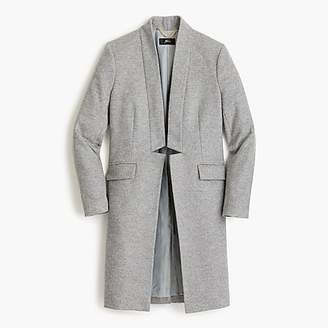 Long wool-cashmere topcoat