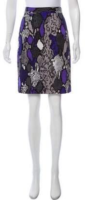 Milly Animal Print Pencil Skirt