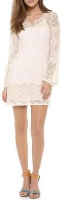 Cynthia Vincent Lace Bell Shirtdress
