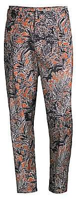 3.1 Phillip Lim Men's Cropped Pleated Printed Pants