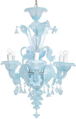 Modern 6-Light Chandelier Opaline