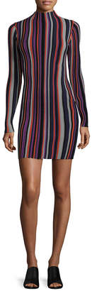 Torn By Ronny Kobo Stripe Sheath Dress