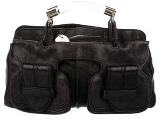 Chloé Leather Pocket Satchel