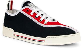 Thom Browne Trainer Paper Label Sneaker in Red & White & Black   FWRD