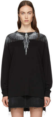 Marcelo Burlon County of Milan Black Wing Long Sleeve T-Shirt