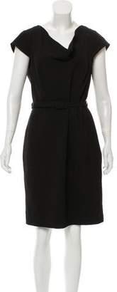 Calvin Klein Collection Knee-Length Cowl Neck Dress