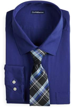 Croft & Barrow Men's Classic-Fit Dress Shirt and Patterned Tie Boxed Set
