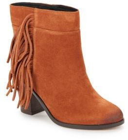 Fringed Pull-On Leather Booties $225 thestylecure.com
