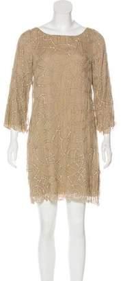 Alice + Olivia Beaded Silk Dress