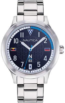 Nautica N83 Men NAPCFS907 Crissy Field Silver/Blue Stainless Steel Bracelet Watch