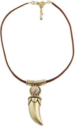 Artsmith BY BARSE Art Smith by BARSE Jasper & Leather Brass Horn Pendant Necklace