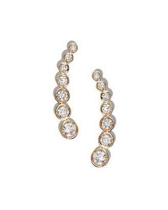 Lana Femme Fatale Diamond Climber Earrings