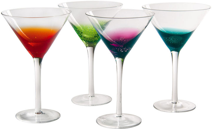 Artland ARTLAND Fizzy Set of 4 Martini Glasses